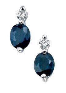 blue sapphire earrings, elements gold,