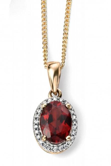 9ct yellow gold garnet diamond pendant jewellery by tony strowger elements goldgarnet diamond pendant aloadofball Image collections