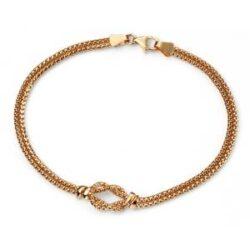 yellow gold rope bracelet