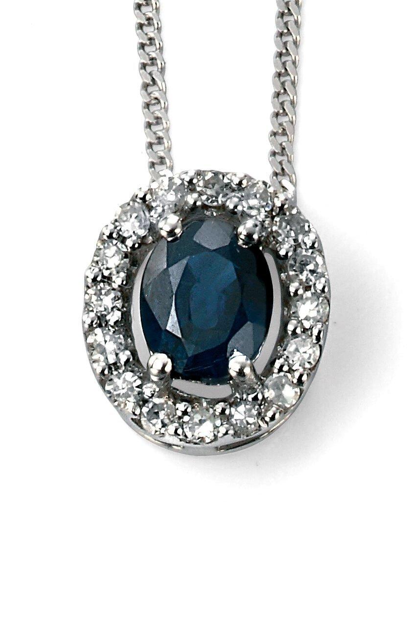 Elements Gold, Blue Sapphire, Pendant