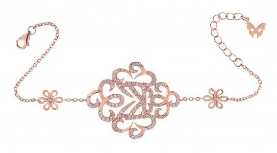Vamp London Hidden Mask Bracelet Rose Gold