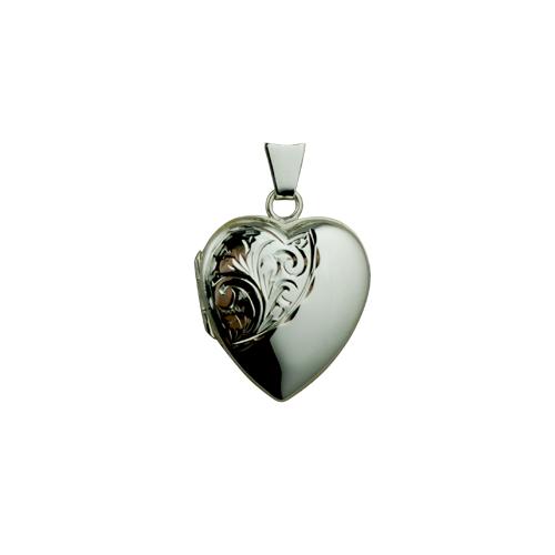Silver Locket, Heart Locket,