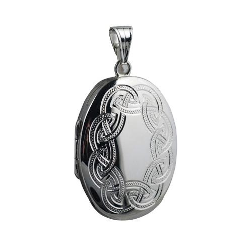 Silver Locket, Engraved Locked, Locket