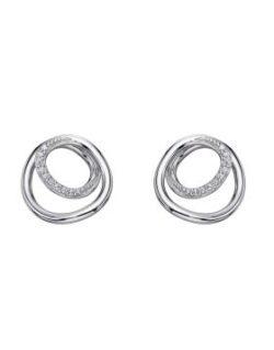 fiorelli silver Circle/Spiral Earring