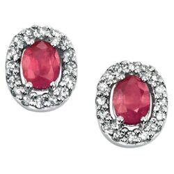 gold Ruby & Diamond Earrings, Bury St Edmunds
