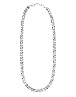 Silver Double Bead Necklace